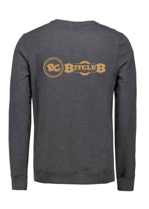 "Sweatshirt Herren - ""Bitclub"", Stick gold"