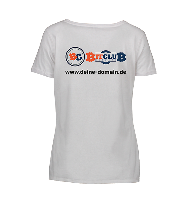 "T-Shirt VA Damen - ""Bitclub-Network"", 2-fbg."